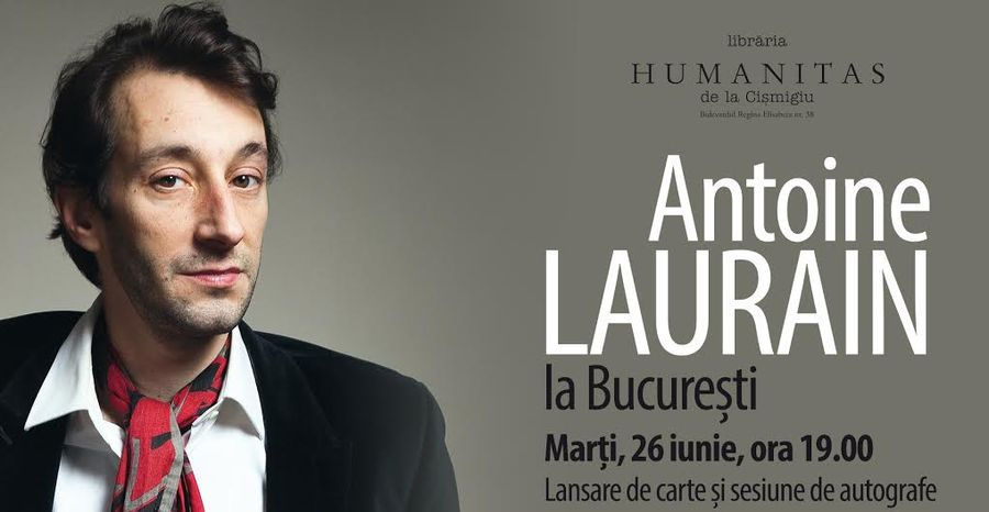 """Antoine Laurain prezintă romanul """"Pălăria Președintelui"""" la București"""